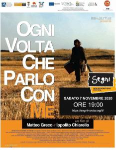 OGNI VOLTA CHE PARLO CON ME – Un film di Matteo Greco e Ippolito Chiarello